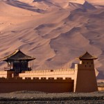 Ancient Song Dynasty city in the desert, Dunhuang, Gansu Province, China
